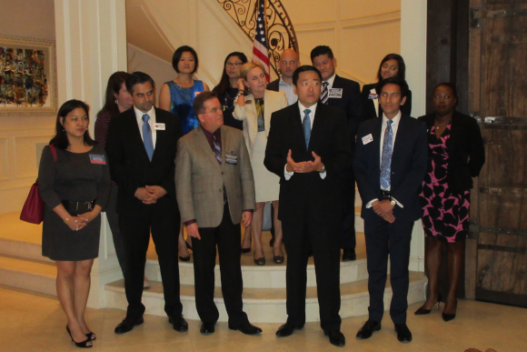 The Democratic candidates for various political and judicial offices in Harris County and Kathy Cheng, candidate for Texas Supreme Court Place 6 with State Representative Gene Wu at the fundraiser on September 26