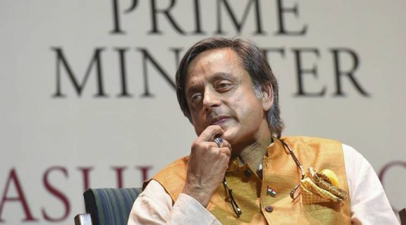 "New Delhi: Congress MP Shashi Tharoor during the release of his book '""The Paradoxical Prime Minister"" in New Delhi, Friday, Oct. 26, 2018. (PTI Photo/Atul Yadav) (PTI10_26_2018_000194B)"
