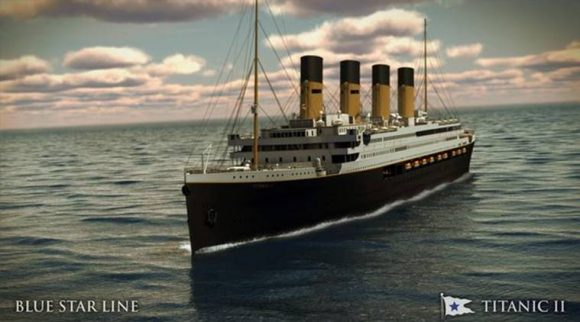 Titanic II will follow the same route as that of the original doomed vessel. (Source: Blue Star Line)
