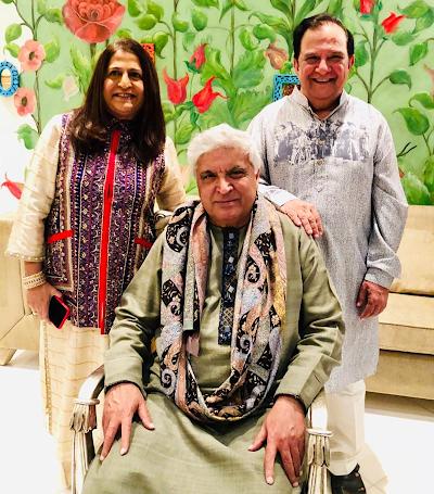 Himadri and Harish Katharani with Javed Akhtar