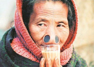 An Apa Tani woman from Ziro, Arunachal Pradesh. (Photographs by Anu Mahotra)
